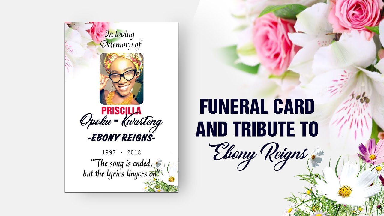 Funeral card and tribute to ebony reigns may her soul rest in funeral card and tribute to ebony reigns may her soul rest in peace stopboris Gallery