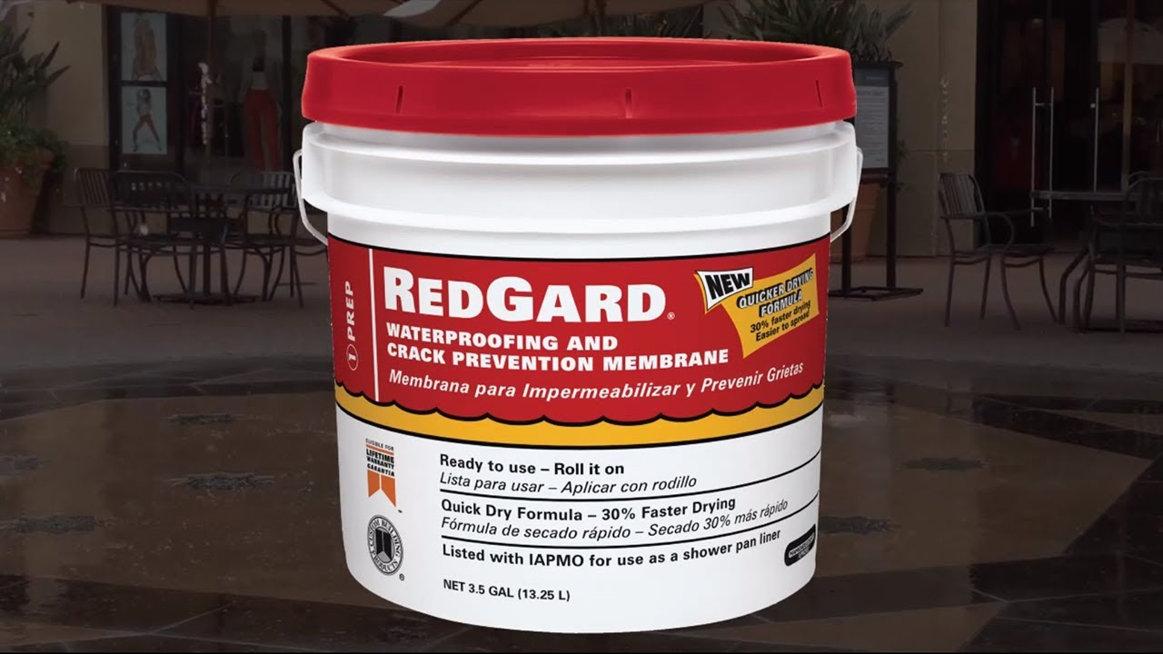 How To Use RedGard® Liquid Waterproofing And Crack Prevention Membrane    YouTube