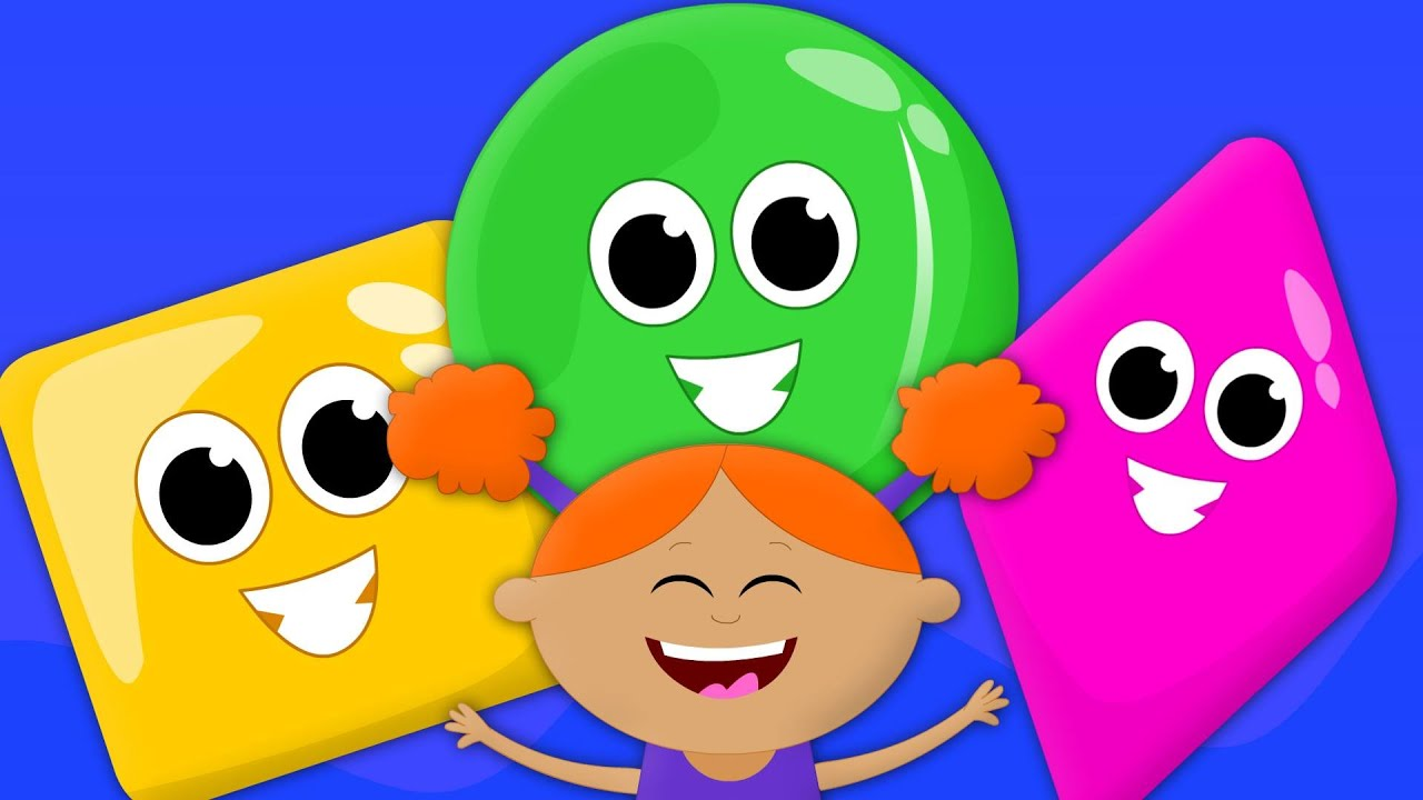 the shapes song | learn shapes | balloon shapes | nursery rhymes ...