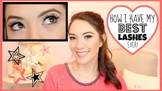 HOW I HAVE MY BEST LASHES EVER! | Blair Fowler Thumbnail