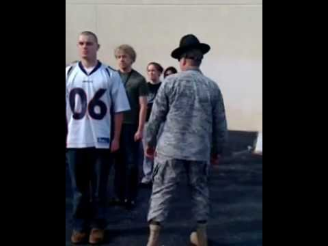 Hilarious! Drill Sergeant yells at some recruits. preparing them for basic training