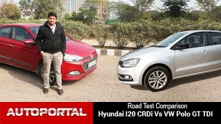 Volkswagen Polo Vs Hyundai Elite i20 Test Drive Comparison - Autoportal
