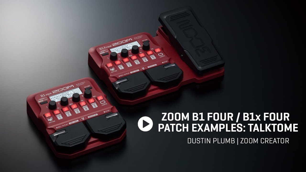 ZOOM G1X FOUR Multieffektpedal E-Gitarre Effekt Expression Pedal Software Looper