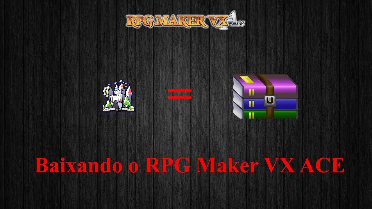 ►Baixando o RPG Maker VX ACE com RTP em português!◄