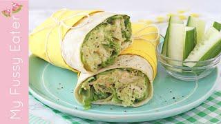 Chicken Avocado Wrap | Healthy Lunch Recipe