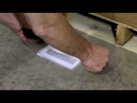 Mighty line clear floor marking label protectors youtube for Floor labels