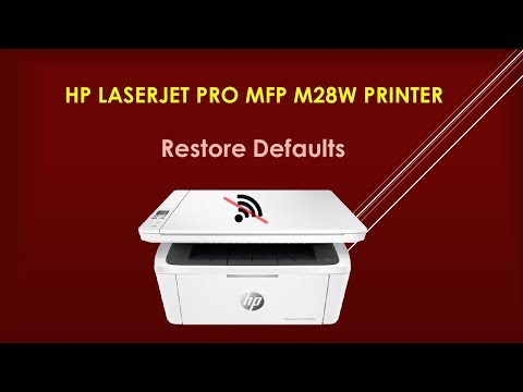 HP LaserJet Pro MFP M28w printer : Restore printer defaults