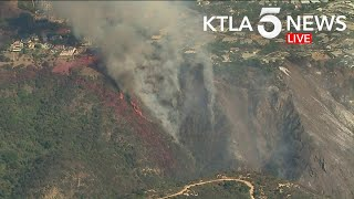 Brush Fire Threatens Homes in Pacific Palisades | Part 2