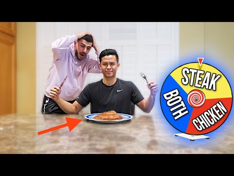 VEGETARIAN EATS MEAT FOR THE FIRST TIME! *SPIN THE WHEEL*