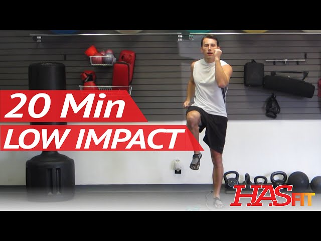 Hasfit 20 Minute Low Impact Easy Workout To Burn Calories Beginner Cardio Aerobic Exercise At Home Youtube