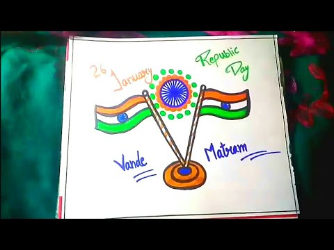 26 January Drawing For Kids Republic Day Drawing Youtube