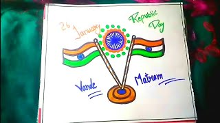 26 january drawing for kids ~ republic day drawing