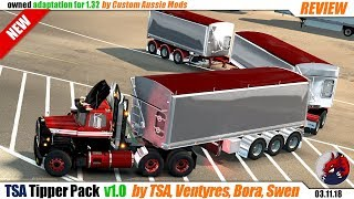 "[""American Truck Simulator"", ""Euro Truck Simulator 2"", ""mods"", ""modifications"", ""TSA Tipper Pack"", ""by TSA"", ""Custom Aussie Mods""]"
