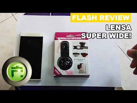 Lensa Super Wide 0.4x dengan Clip - Review Indonesia - Flash Gadget Store