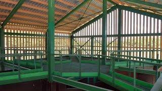 Особенности конструкции раскола - комплекса для обработки животных. Охотхозяйство Днепр-Холм.