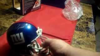NY GIANTS mini helment autograph