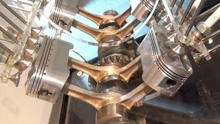 HONDA NR750,500. Oval piston engine cutaway. 楕円ピストン NRエンジンカットモデル