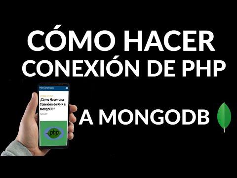 Cómo Hacer una Conexión de PHP a MongoDB