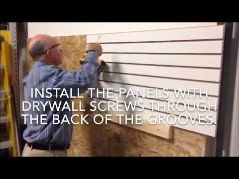 Easy Panels Retail Or Garage Slatwall
