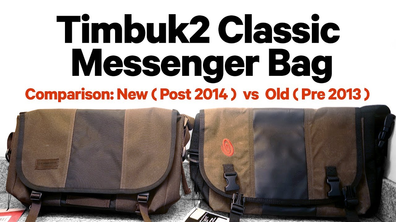 Timbuk2 Classic Messenger Bag Comparing 2017 Vs Model