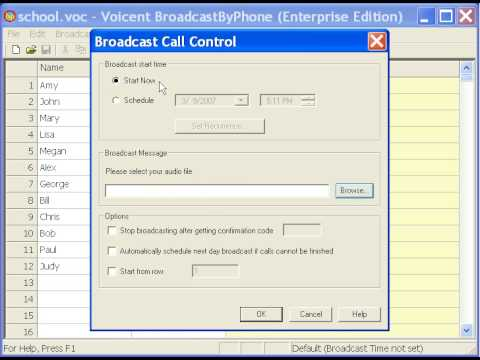 How to Use Voicent BroadcastByPhone Autodialer