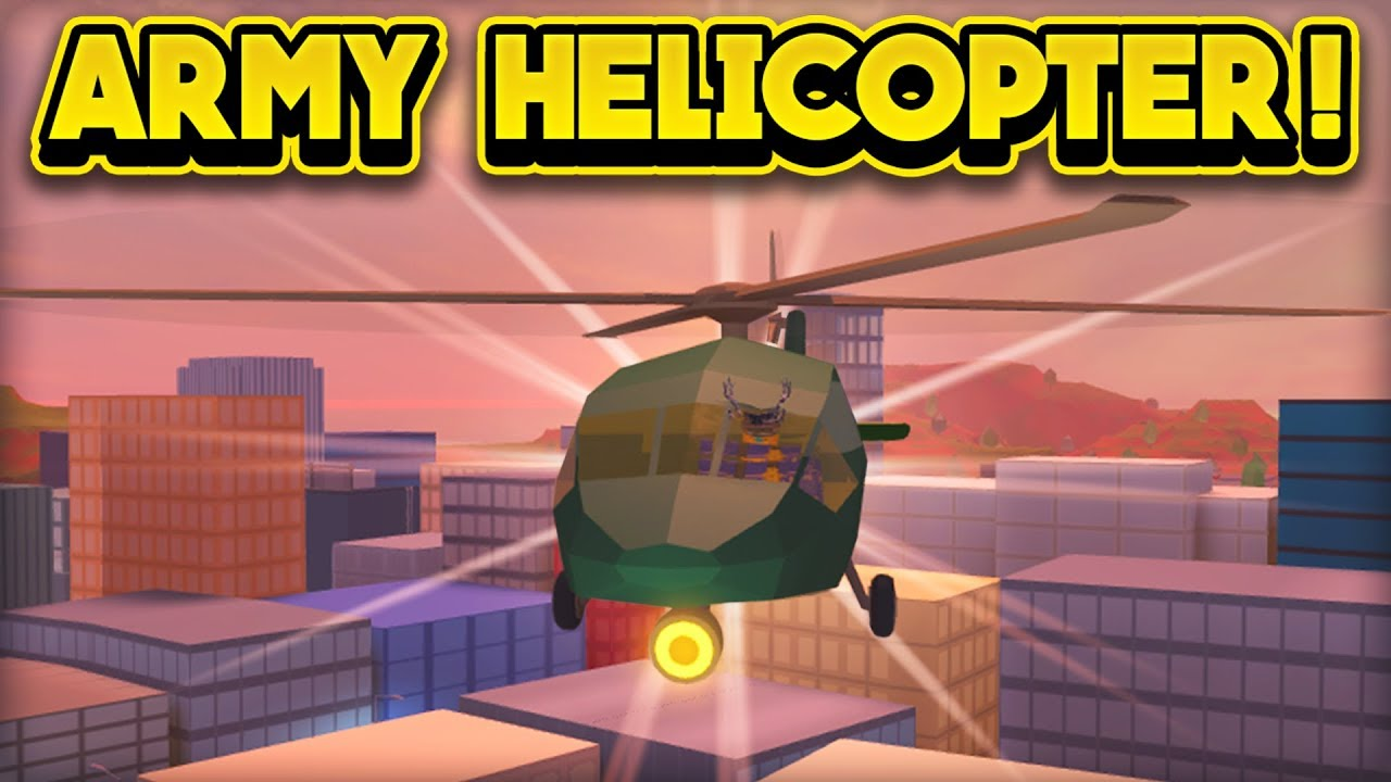 NEW ARMY HELICOPTER & MORE! (ROBLOX Jailbreak)