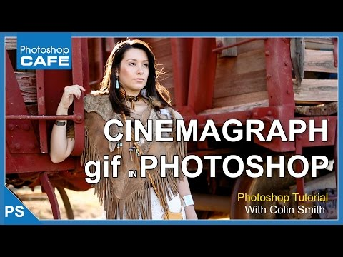 Make a CINEMAGRAPH in Photoshop tutorial & make a gif