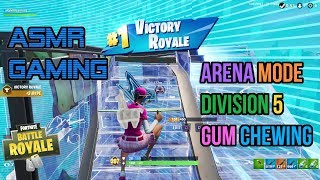 ASMR Gaming | Fortnite Arena Mode Division 5 Relaxing Gum Chewing 🎮Controller Sounds + Whispering😴💤