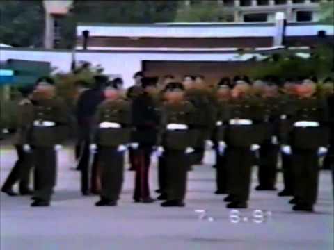 4 Troop Pass Off Parade - 11 Signal Regt - 7th June 1991