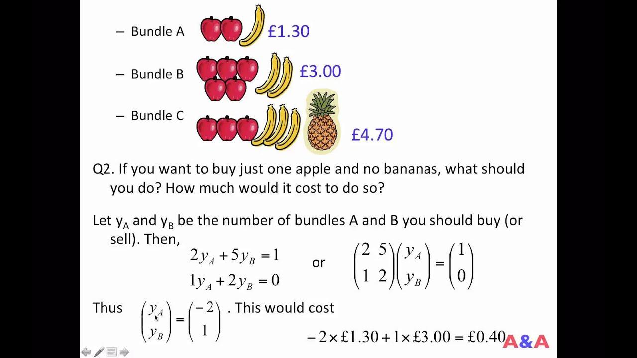 No Arbitrage Pricing 01 Fruit Basket Example Youtube