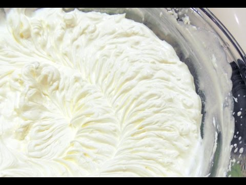 Нежный КРЕМ - СУФЛЕ из сливок для тортов, капкейков  и любой выпечки.