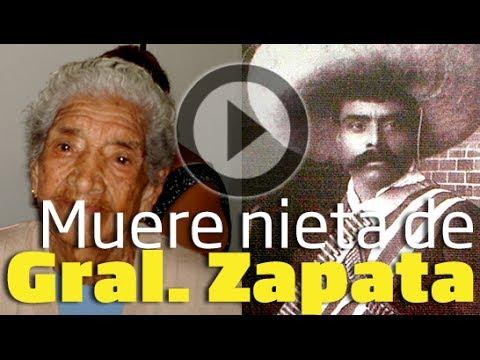 Muere a sus 100 años de edad, Carlota Zapata hija de el Gral Emiliano Zapata
