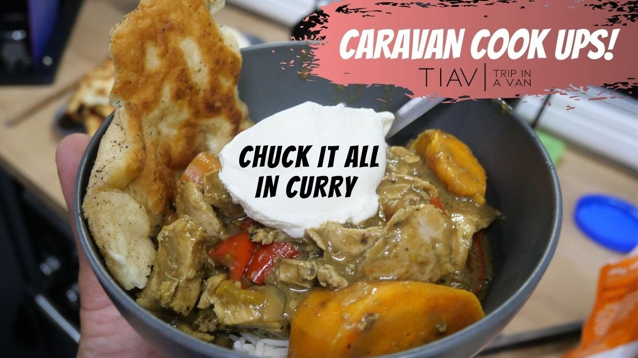 THE CHUCK IT ALL IN CARAVAN CURRY & FRIED RICE....... Easy meals for life on the road!