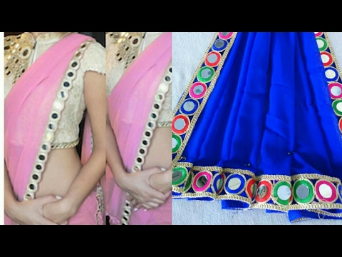 Saree Making At Home With Beautiful Border Easy Step By Step