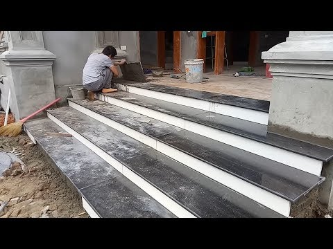 Construction Techniques Stone Stairs Installation - Amazing Creative Construction  Techniques Smart