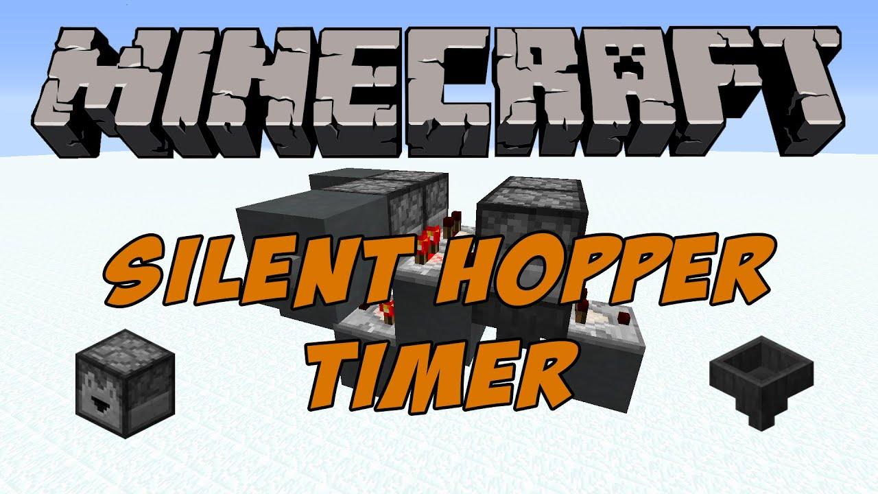 Minecraft Tutorial - Silent Self-resetting Hopper Timer