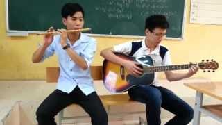 Rhythm of the rain - cover by vhq193 ft Thịnh cận (sáo trúc + guitar)