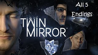 Twin Mirror - All 5 Endings | Good, Bad & Twist Endings