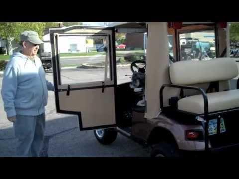 Mulligans Swinging Door Golf Cart Enclosure Youtube