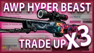 AWP HYPER BEAST TRADE UPS (x3 ATTEMPTS)