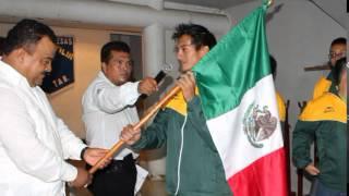 Abandera González Valerio Delegación Para La Olimpiada De Halterofilia