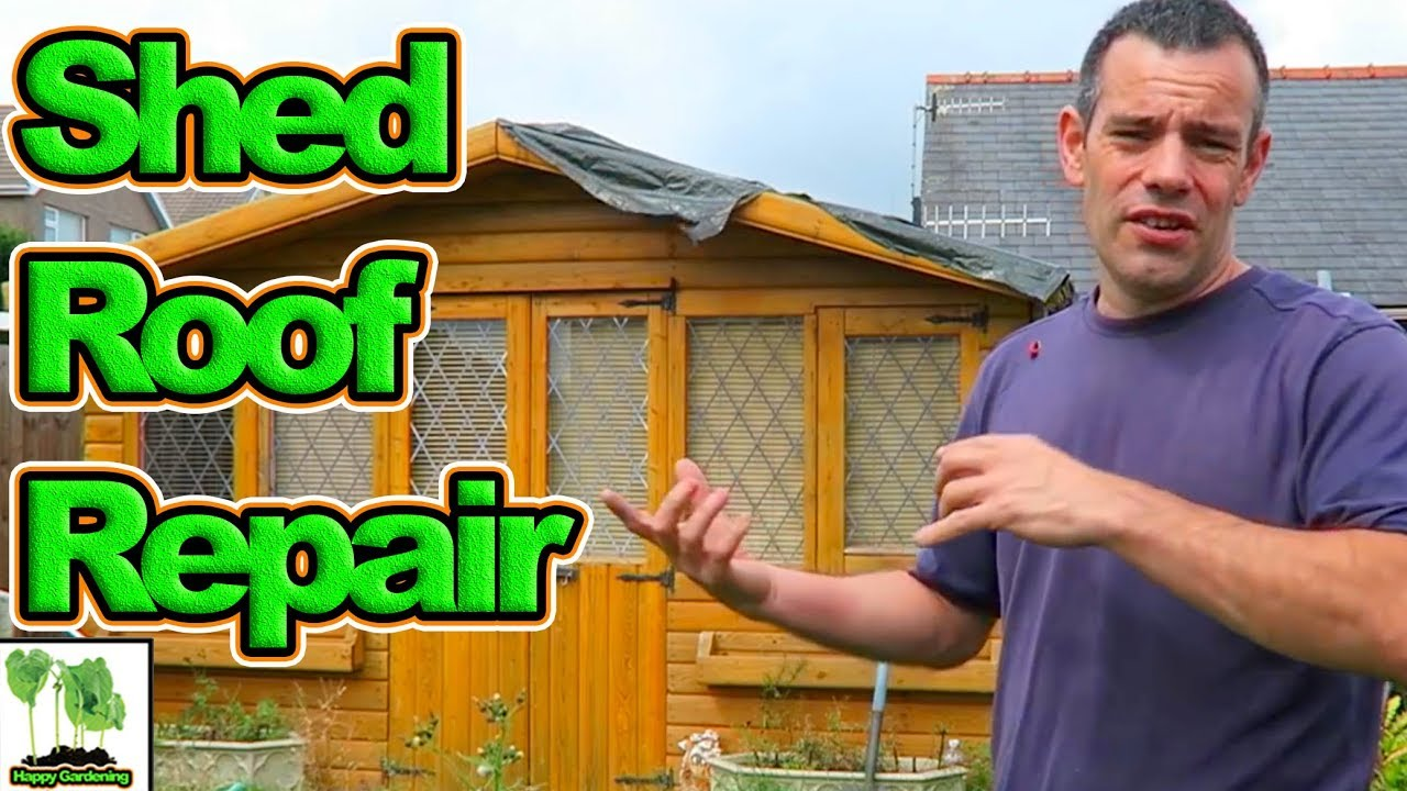How To Fix A Shed Roof YouTube