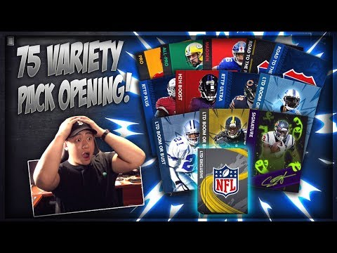 75 VARIETY PACK OPENING!! MADDEN MOBILE 20 SIGNATURE, LTD, RTTP ULTRA & MORE!! SO MANY ELITE PULLS!!