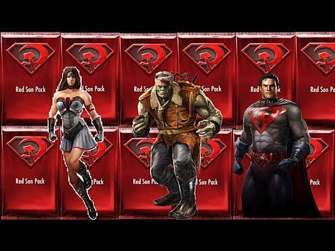 injustice ultimate red son packs opening red son