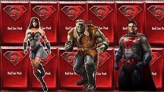 Injustice ~ Ultimate Red Son Packs Opening/ Red Son Characters
