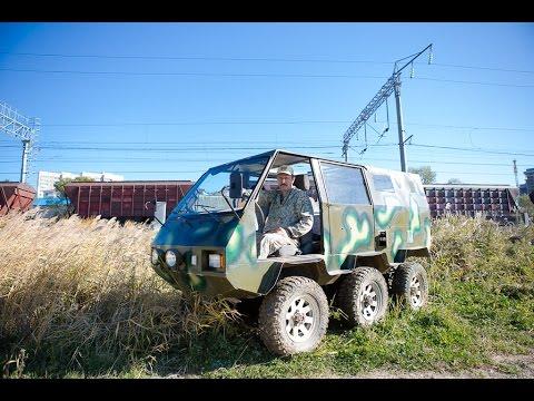 Шестиколесный вездеход создал конструктор из Владивостока