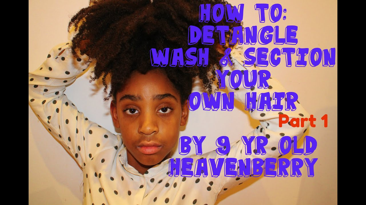 How To WASH 4b AFRO HAIR NATURAL KIDS HAIR