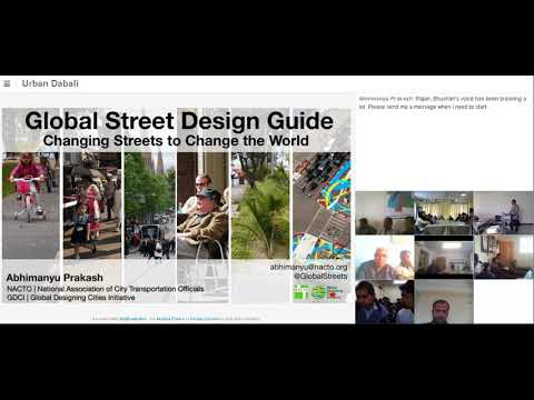 """A Webinar on """" Designing Streets for People"""""""