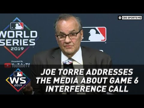 Joe Torre addresses the media about interference call against Trea Turner | CBS Sports HQ