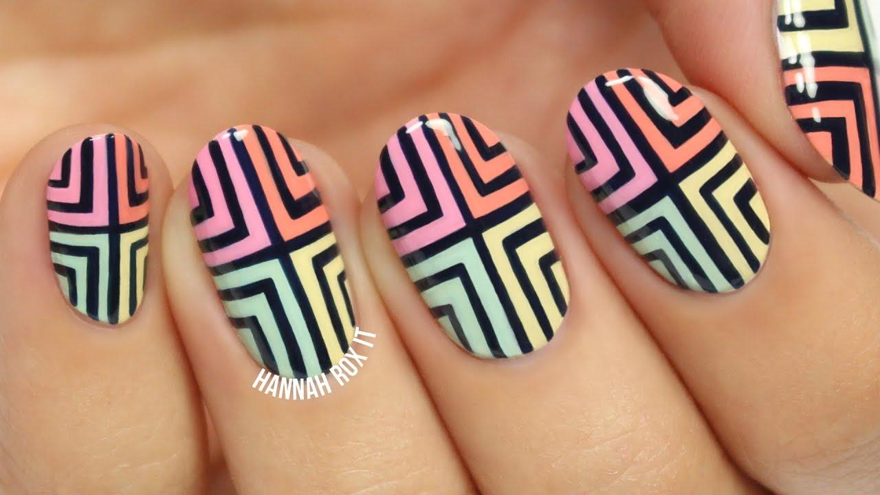 Abstract color block nail art youtube abstract color block nail art prinsesfo Image collections
